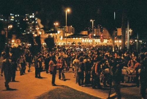 manifestação em florianópolis, 2004