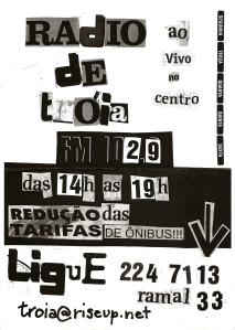 Cartaz da Rádio de Tróia